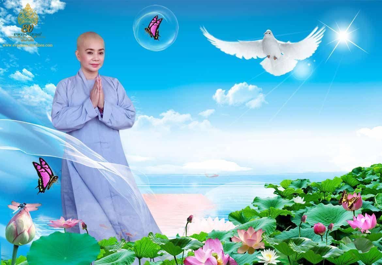 Hình ảnh Hoa Hậu Bích Liên đi tu ở Tịnh Xá Ngọc Vân Bình Thuận